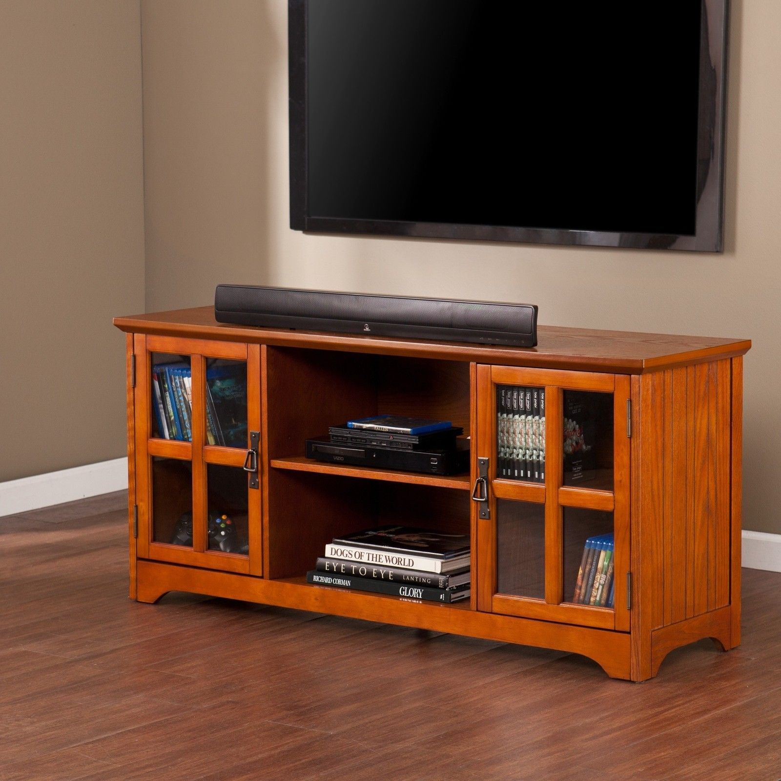 TV Media Stand Storage Entertainment Center Management Furniture Theater Viewing