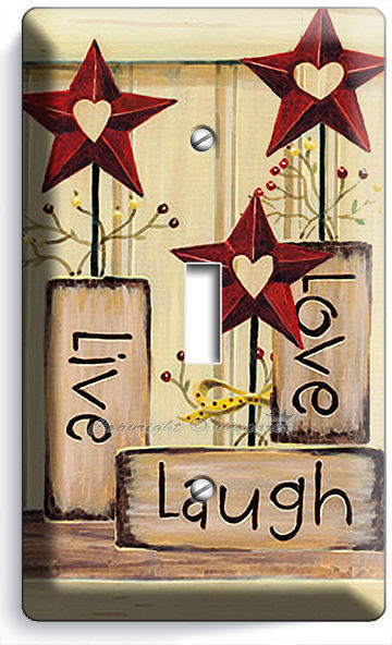 Primary image for LIVE LAUGH LOVE SINGLE LIGHT SWITCH WALL PLATE KITCHEN DECOR LIVING ROOM BEDROOM
