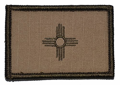 New Mexico State Flag - 3x2 Hat Patch (Desert Tan)