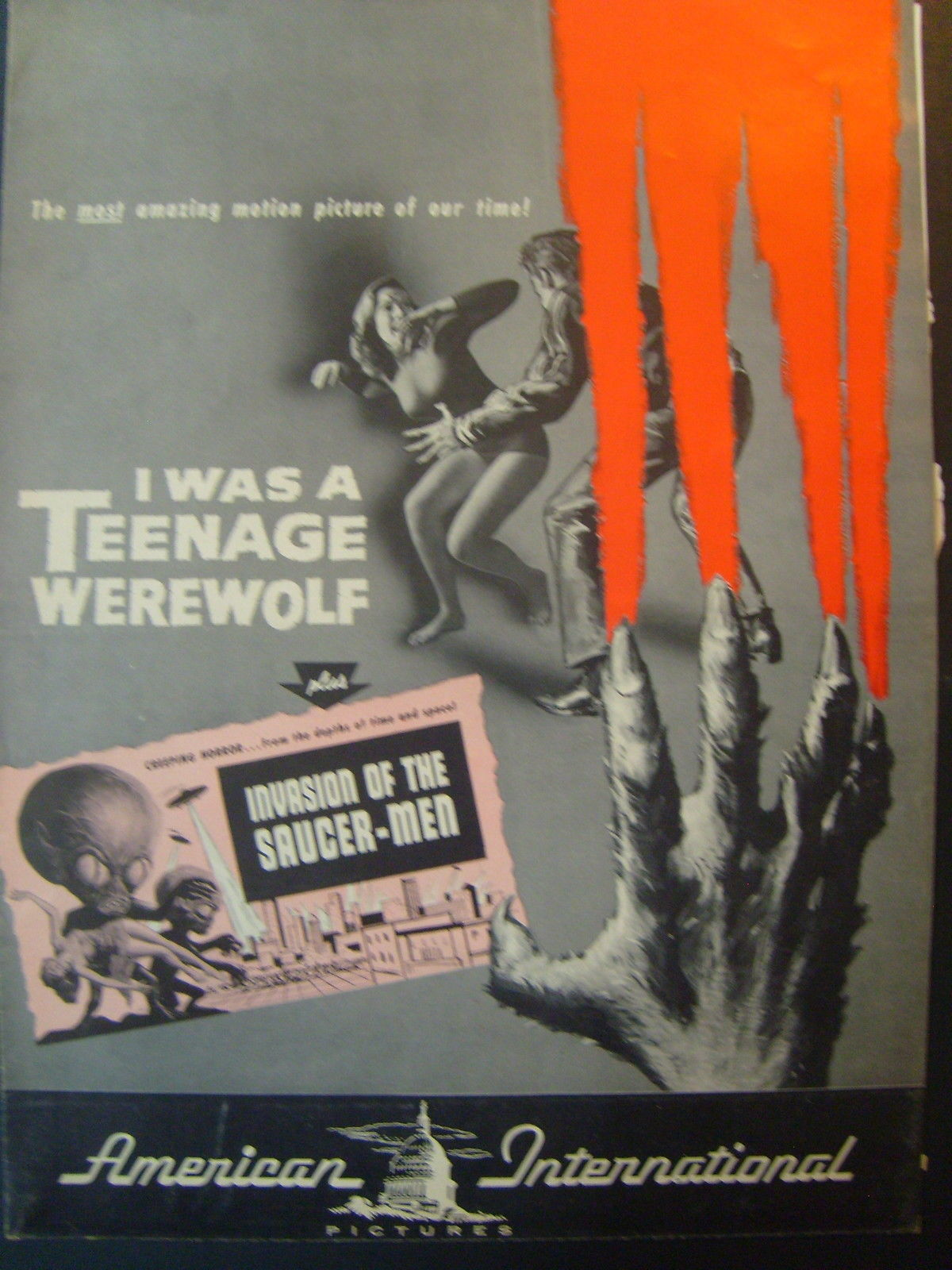 MICHAEL LANDON (TEENAGE WEREWOLF & INVASION OF THE SAUCER MEN) MOVIE PRESSBOOK