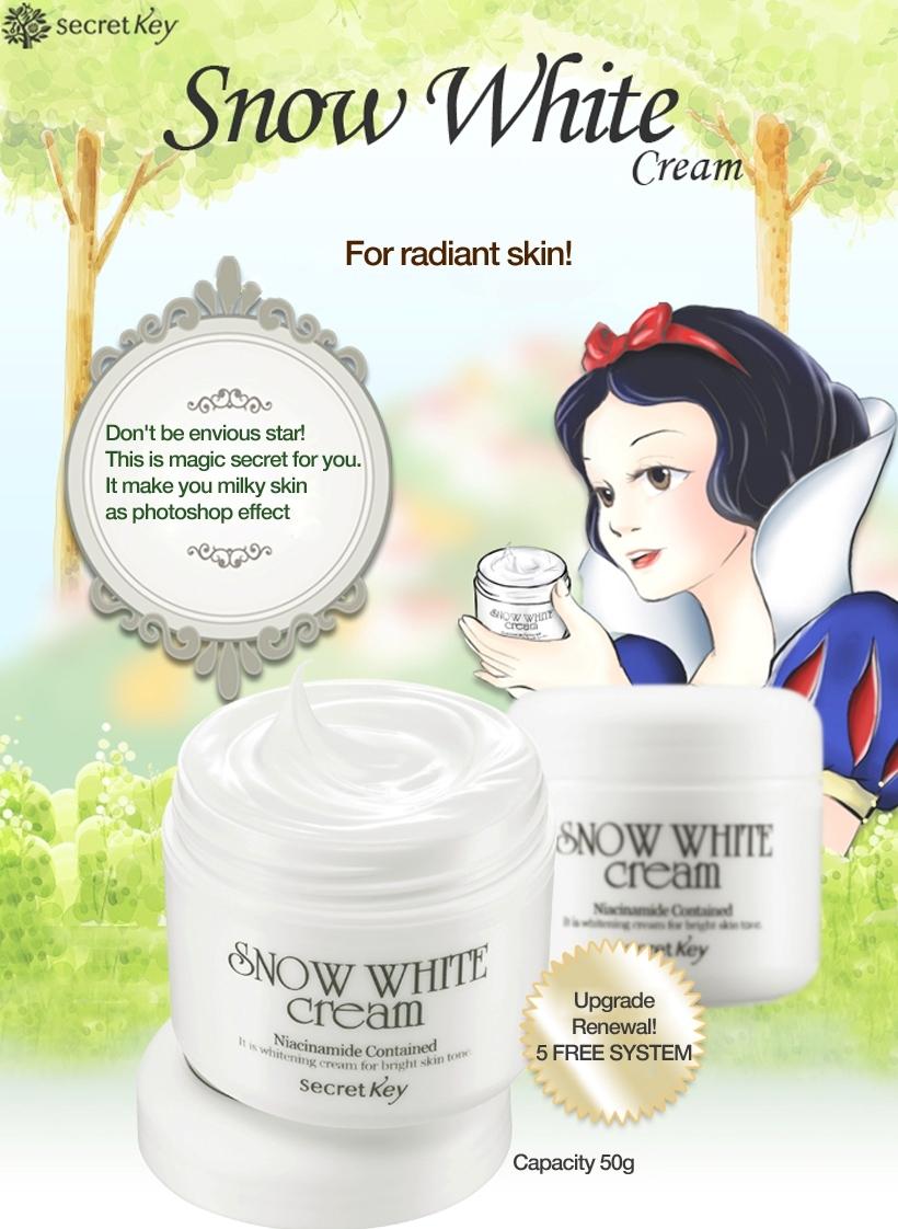 Secret key Snow White Cream 50g + Snow White Milky Pack 200g