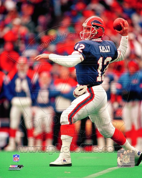 Jim Kelly Buffalo Bills TH Vintage 8X10 Color Football Memorabiliia Photo