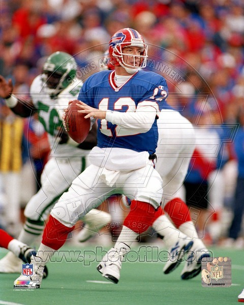Jim Kelly Buffalo Bills ST Vintage 8X10 Color Football Memorabiliia Photo