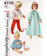 Vintage 1950's Toddler's NIGHTGOWN & PAJAMAS Pattern 4719-s Size 1 - $9.00