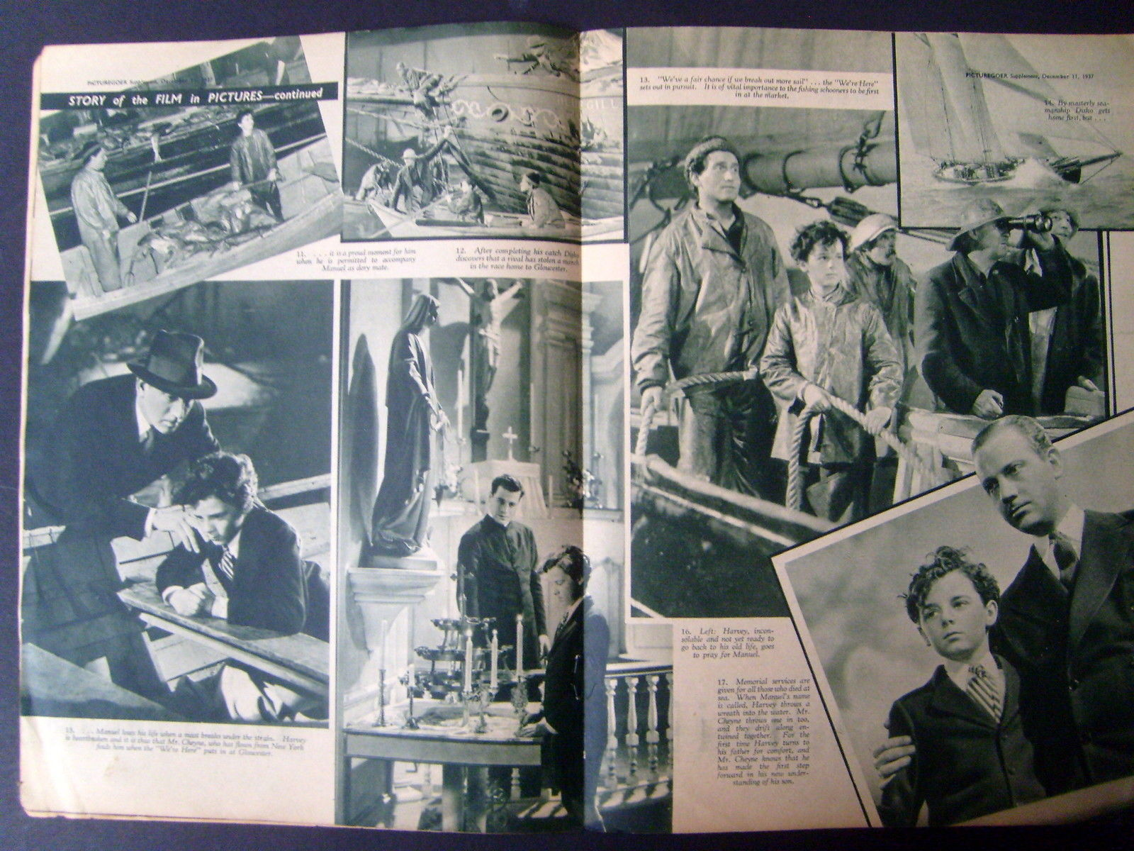 SPENCER TRACY,FREDDIE BARTHOLOMEW (CAPTAINS COURAGEOUS) RARE 1937 MOVIE PROGRAM