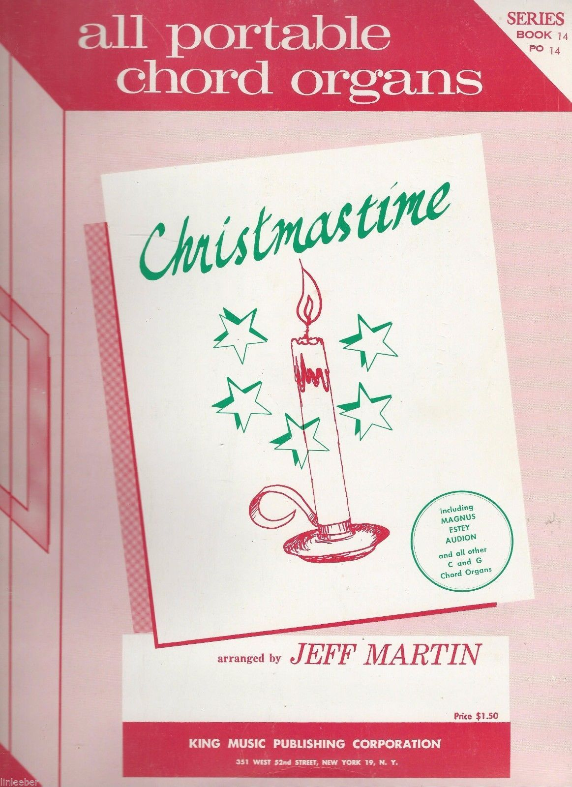 Christmastime: All Portable Chord Organs; arranged by Jeff Martin;Series,Book 14