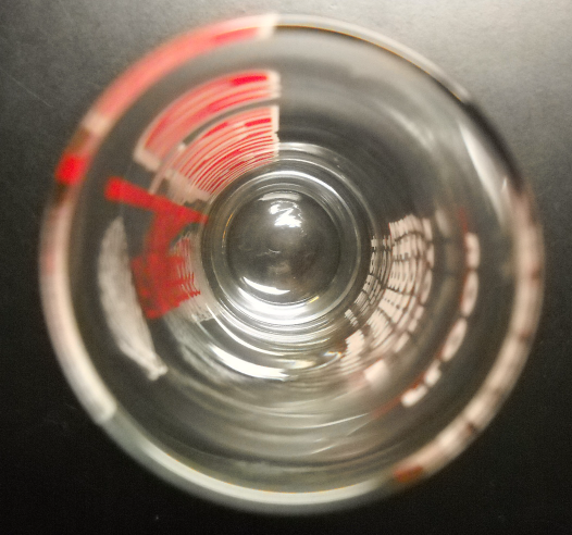 Ocean City MD Shot Glass Super Shooter Size Clear Glass with Red and White Print