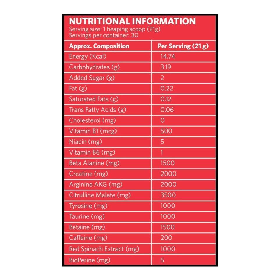 MuscleBlaze Torque Pre-Workout (30 Servings), 1.4 lb Orange image 2