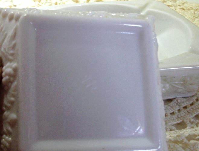 Vintage Westmoreland Paneled Grape Milk Glass Ashtrays-Two