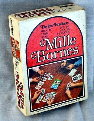 vintage parker brothers mille bornes french car race card game 1971 complete other card games. Black Bedroom Furniture Sets. Home Design Ideas
