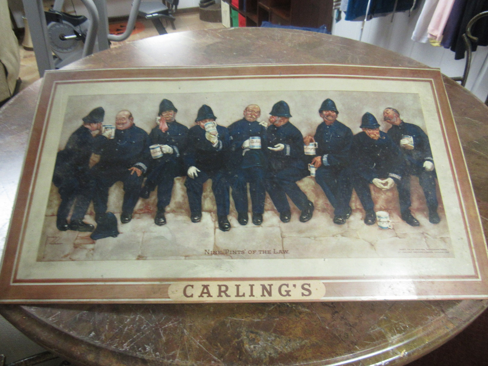 "#1 1940'S Carling's Brewery Lawson  Tin Sign   21"" X 12"""