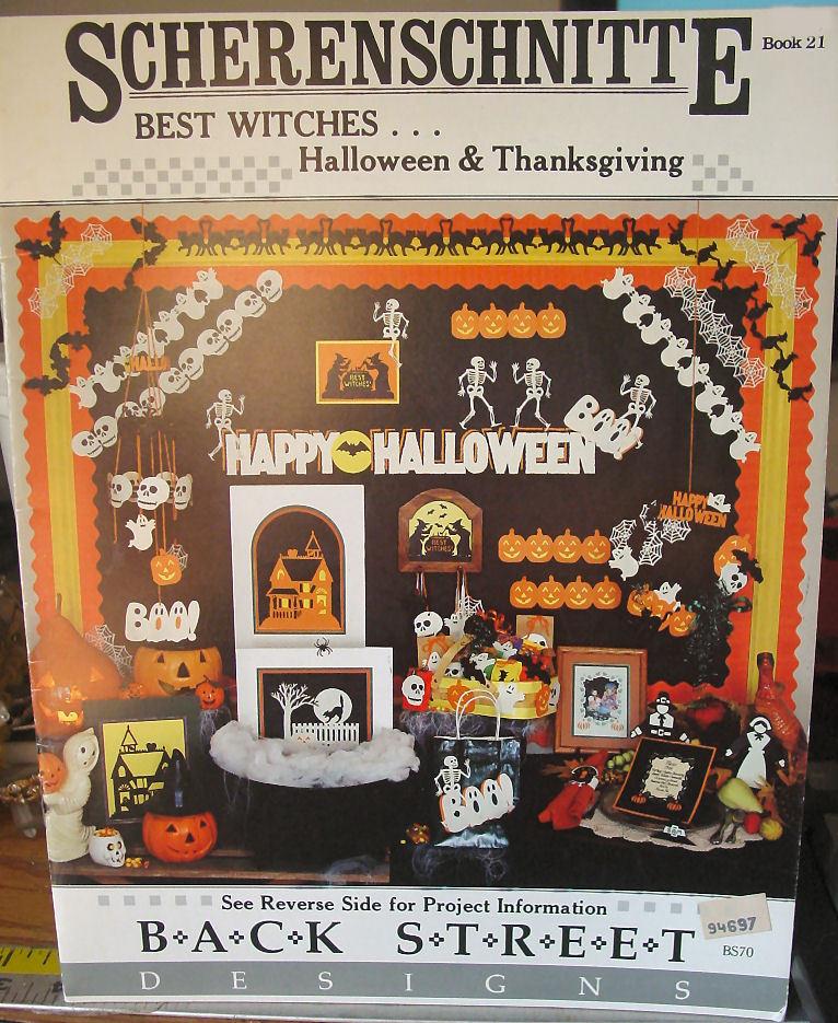 Scherenschnitte Best Witches Halloween & Thanksgiving Book 21