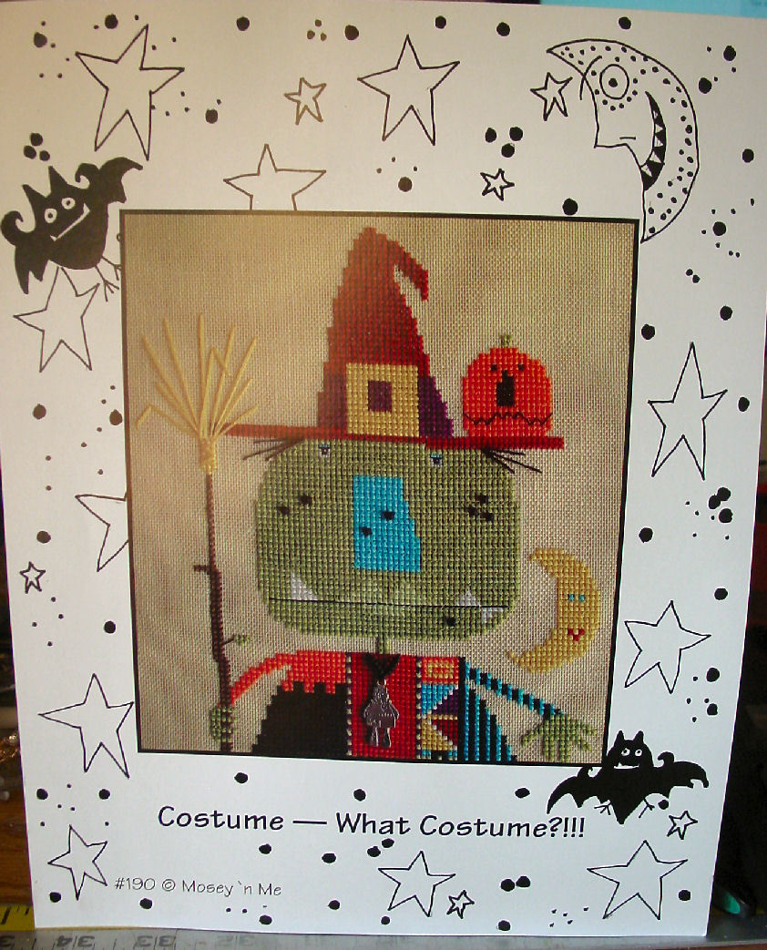 "Pattern Sheet Cross Stitch ""What Costume?"""