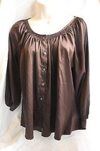 Express Brown button down shirt size Small S Long Sleeved Evening Occasi... - $16.71
