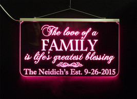 Wedding Sign, Personalized LED Multi Color Changing Wedding Gift - $140.00