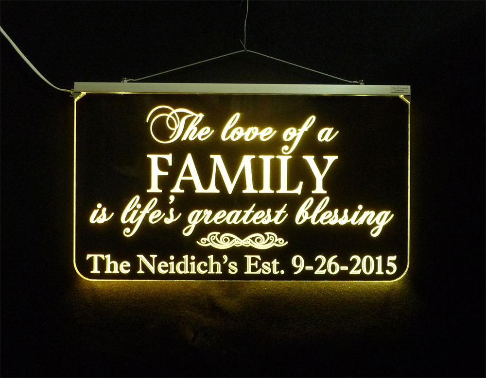 Wedding Sign, Personalized LED Multi Color Changing Wedding Gift