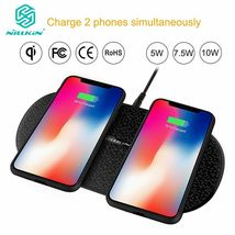Fast Dual 2 In 1 Wireless Charger Xiaomi 9 Mix 2S Qi Pad Samsung Galaxy S10 5G image 8