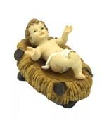 "Baby Jesus crib 5"" Figurine Christmas Holiday Gift Jesus Nativity set Be... - $13.86"