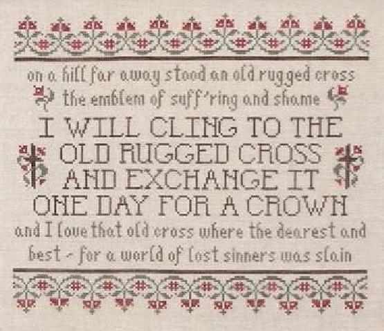 The Old Rugged Cross cross stitch chart My Big Toe Designs