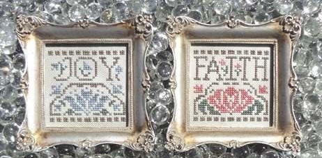 Christmas Pinkies V cross stitch chart My Big Toe Designs