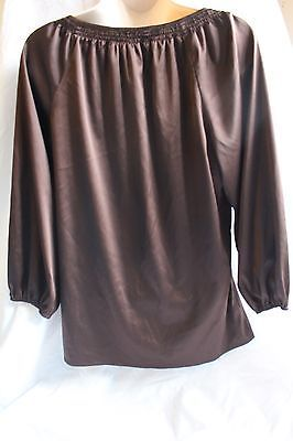Express Brown button down shirt size Small S Long Sleeved Evening Occasion Work