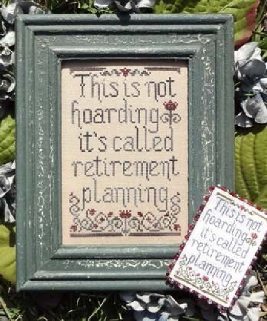 Retirement Planning cross stitch chart My Big Toe Designs