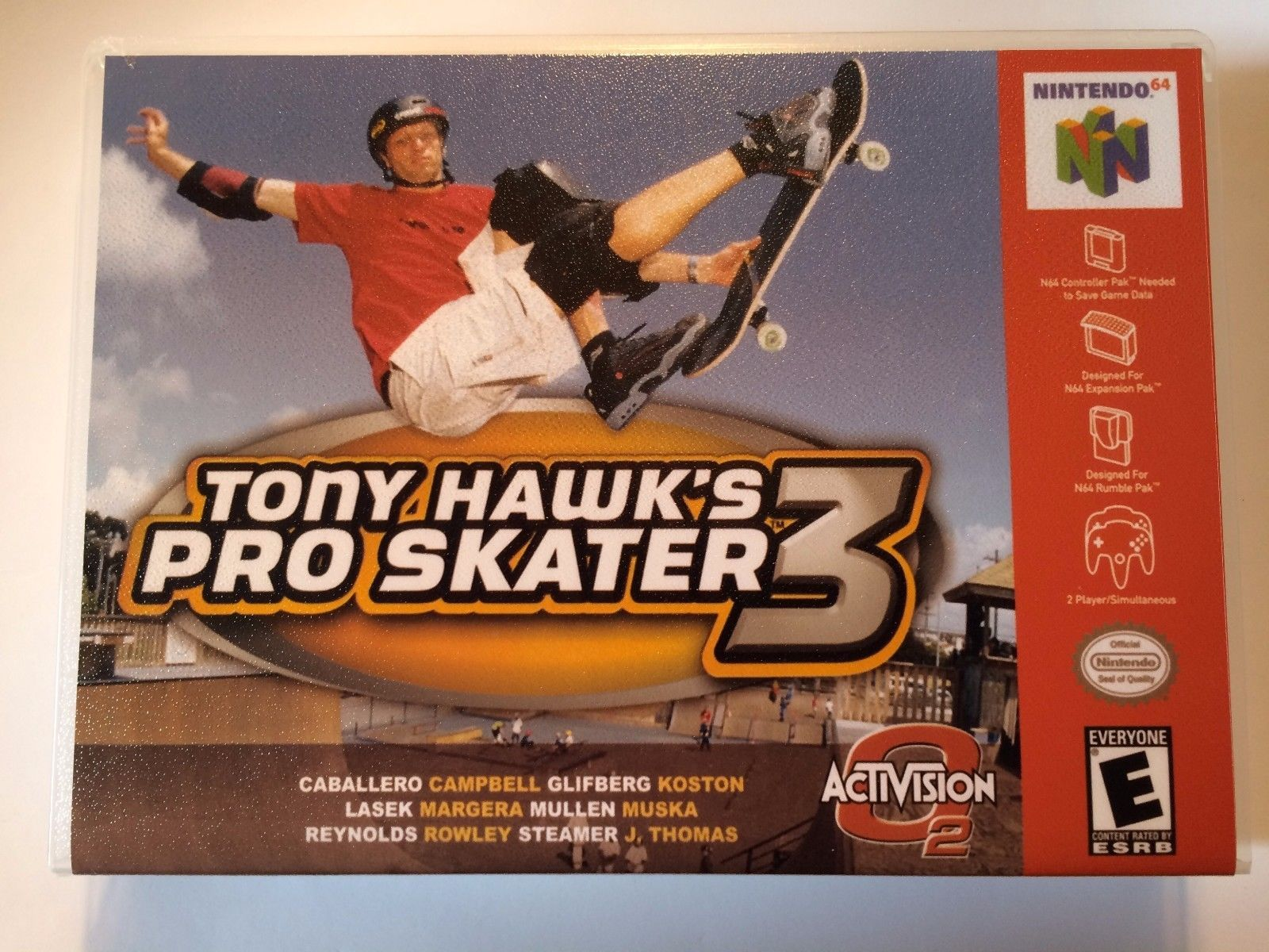 Tony Hawk's Pro Skater 3 - Nintendo 64 - Replacement Case - No Game