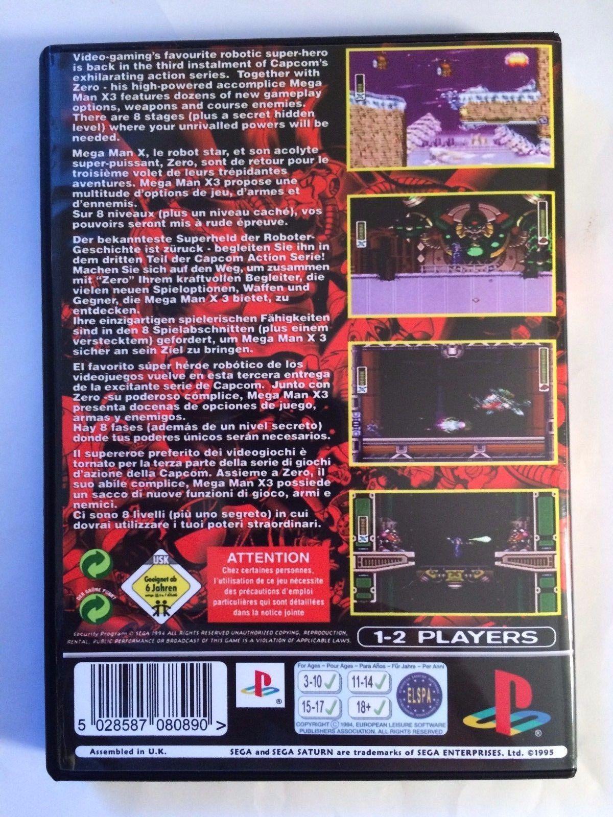 Mega Man X3 - Playstation - Replacement Case - No Game