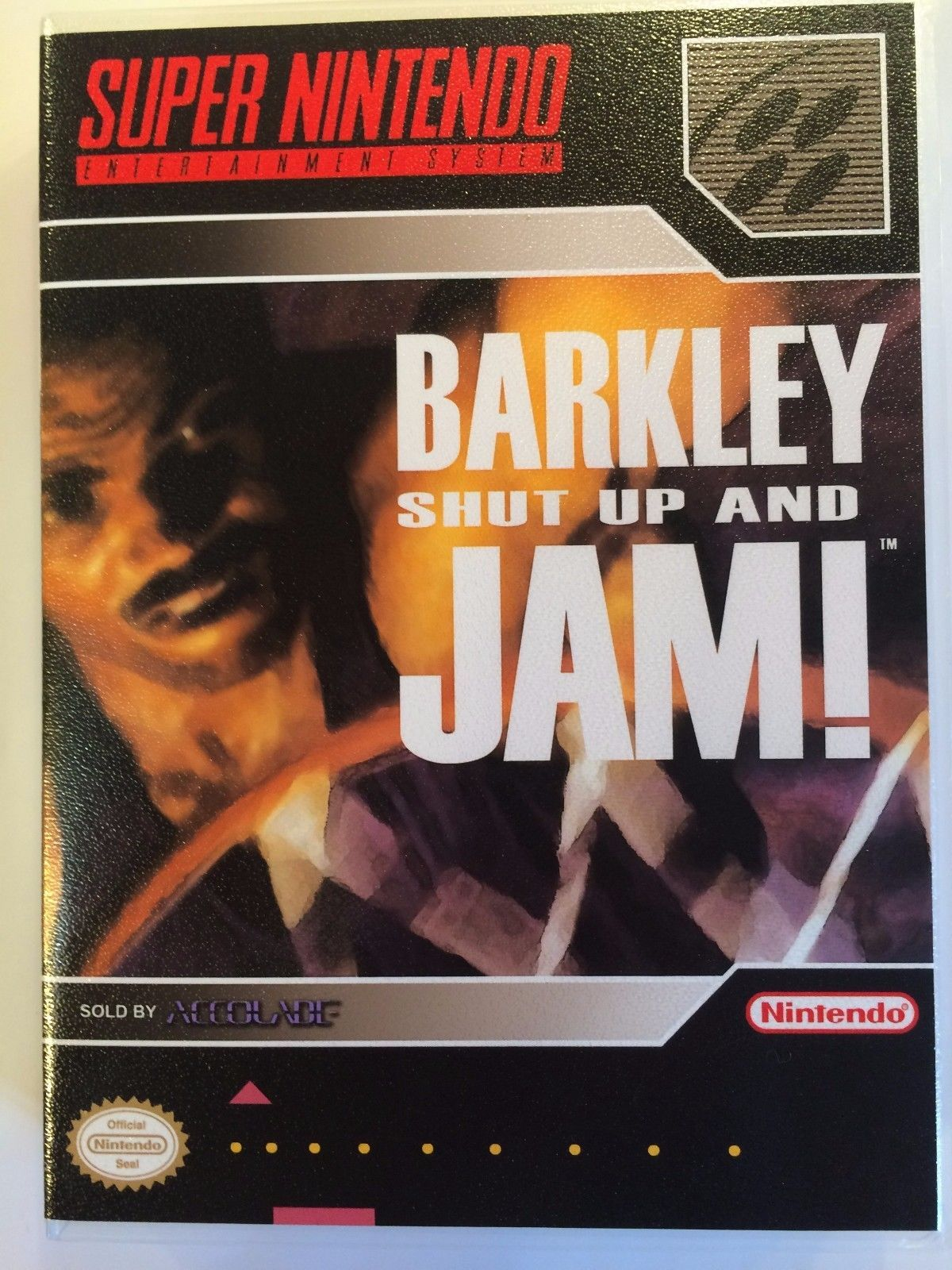 Barkley Shut Up and Jam! - Super Nintendo - Replacement Case - No Game