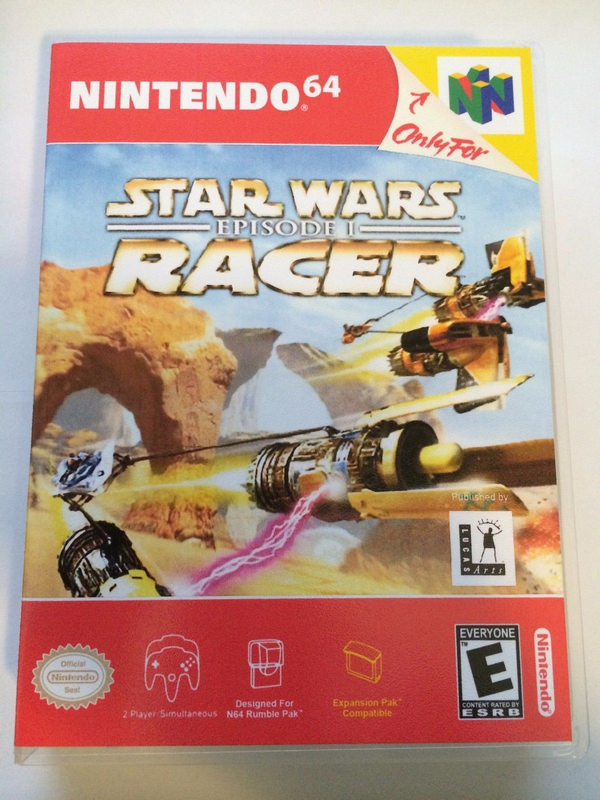 Star Wars Episode 1 Racer - Nintendo 64 - Replacement Case - No Game