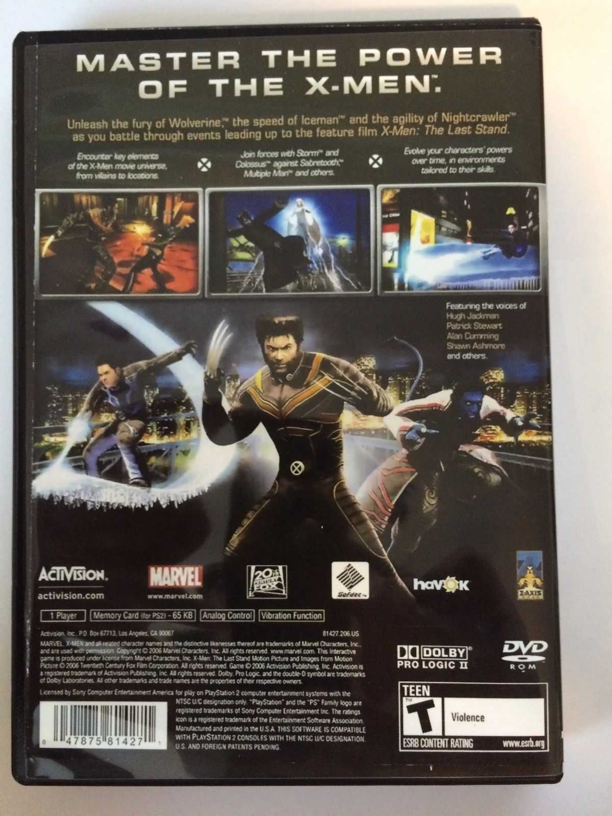 X-Men The Official Game - Playstation 2 - Replacement Case - No Game