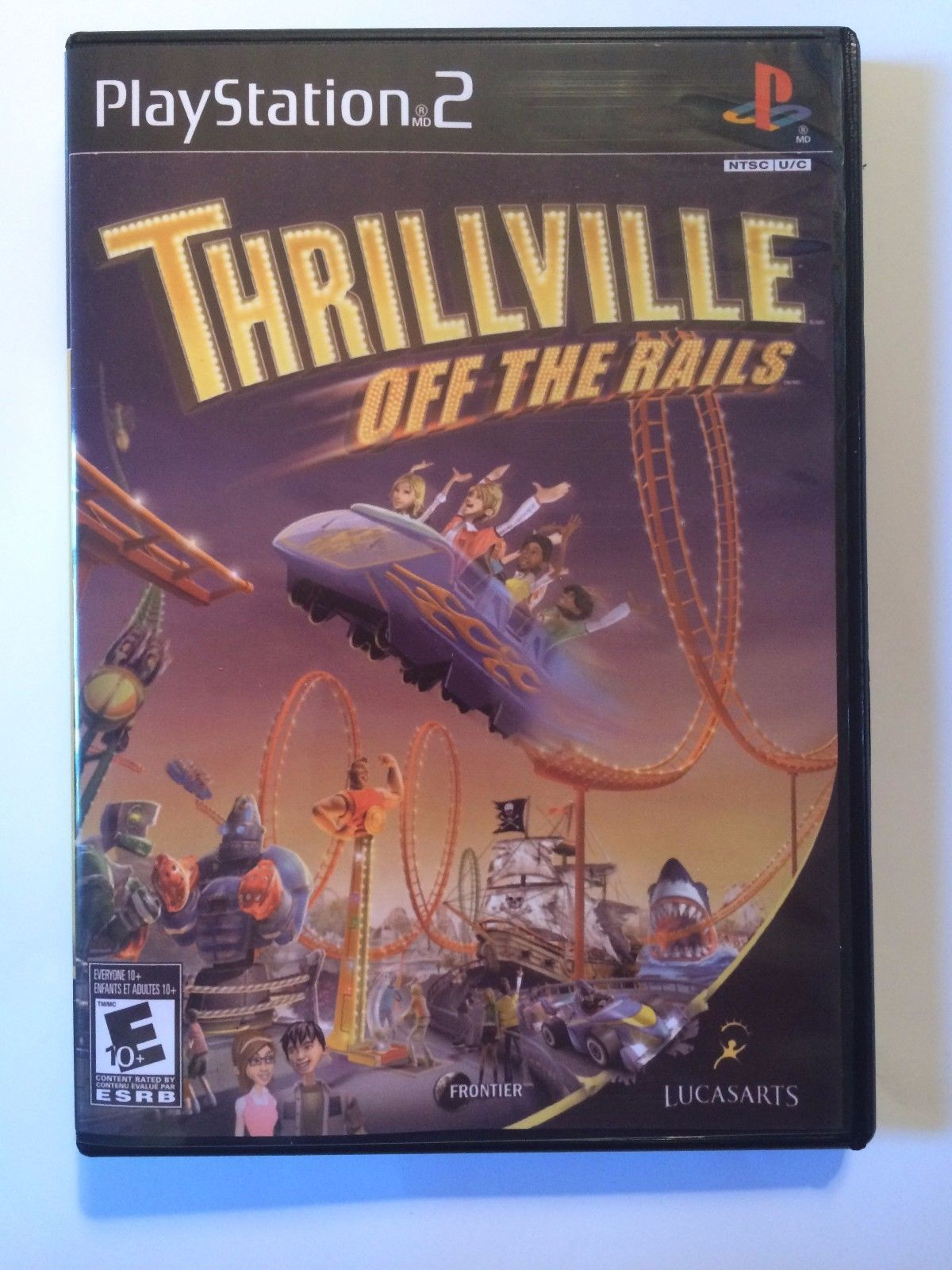 Thrillville Off the Rails - Playstation 2 - Replacement Case - No Game
