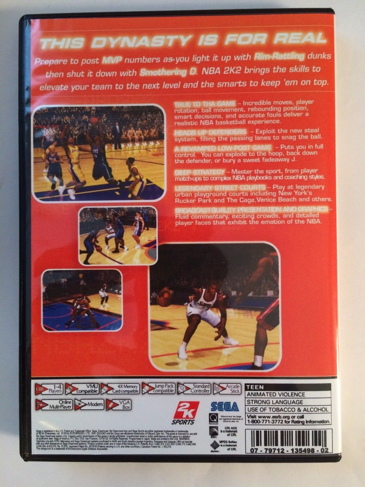NBA 2K2 - Sega Dreamcast - Replacement Case - No Game