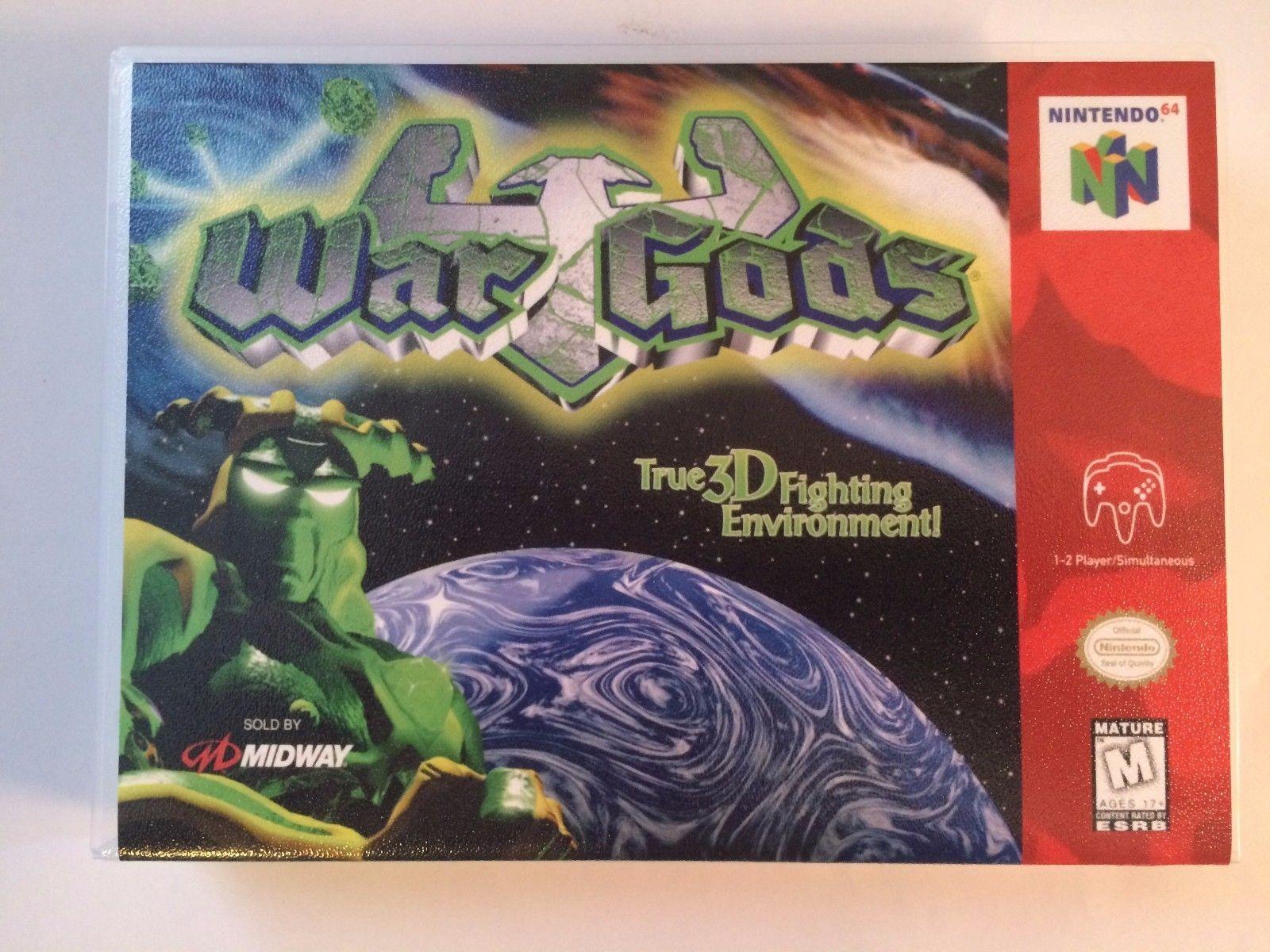 War Gods - Nintendo 64 - Replacement Case - No Game