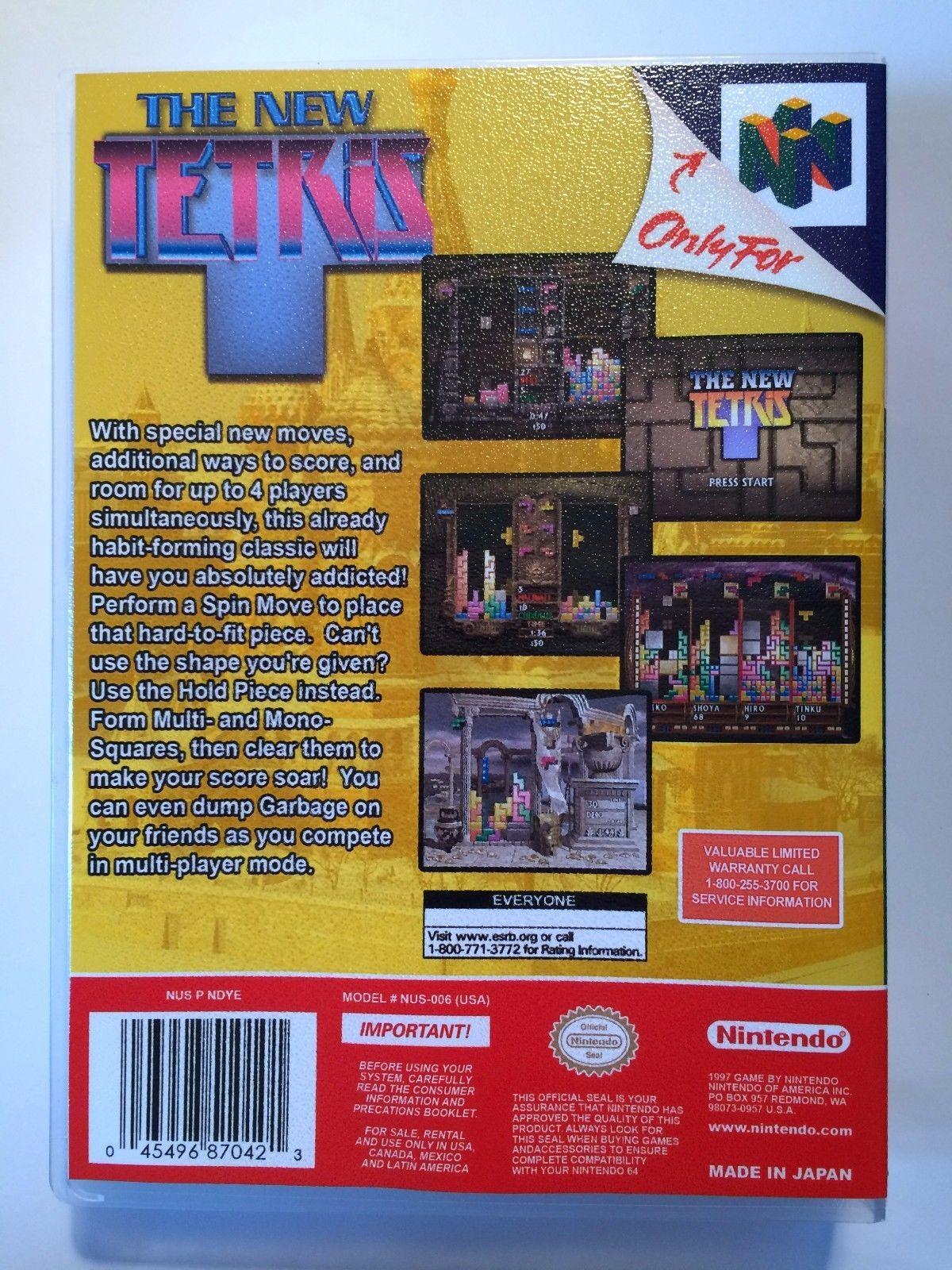 The New Tetris - Nintendo 64 - Replacement Case - No Game