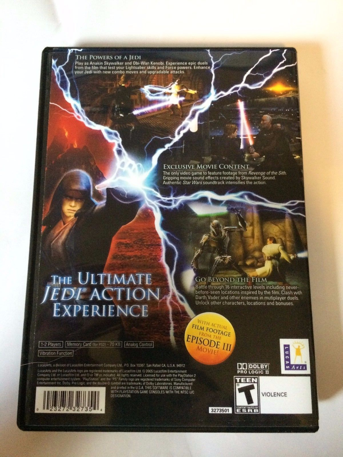 Star Wars Revenge of the Sith - Playstation 2 - Replacement Case - No Game