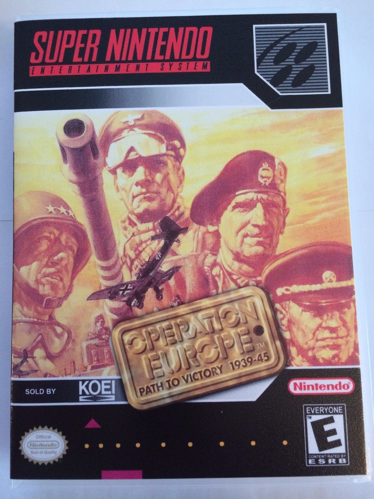Operation Europe - Super Nintendo - Replacement Case - No Game
