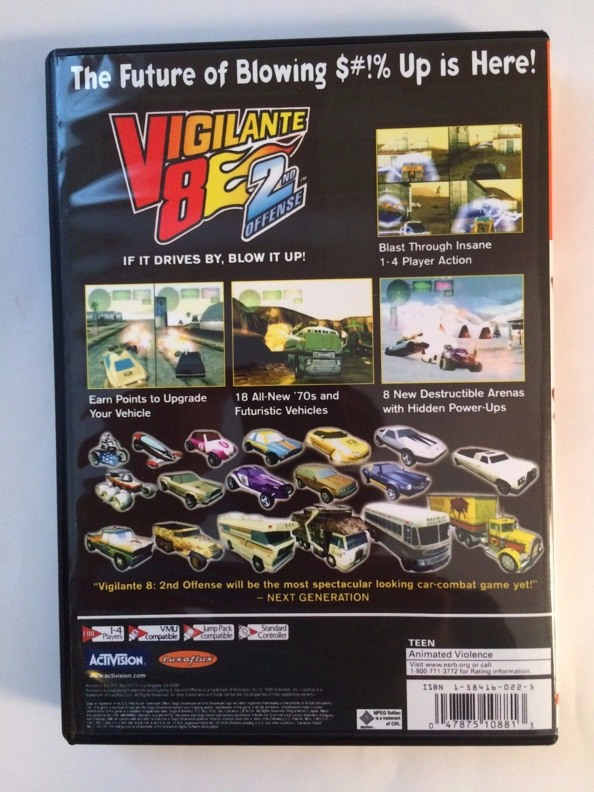 Vigilante 8 2nd Offense - Sega Dreamcast - Replacement Case - No Game
