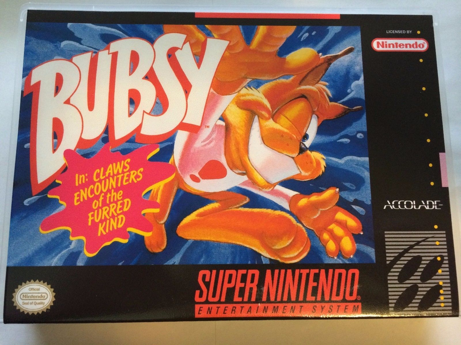 Bubsy - Super Nintendo - Replacement Case - No Game