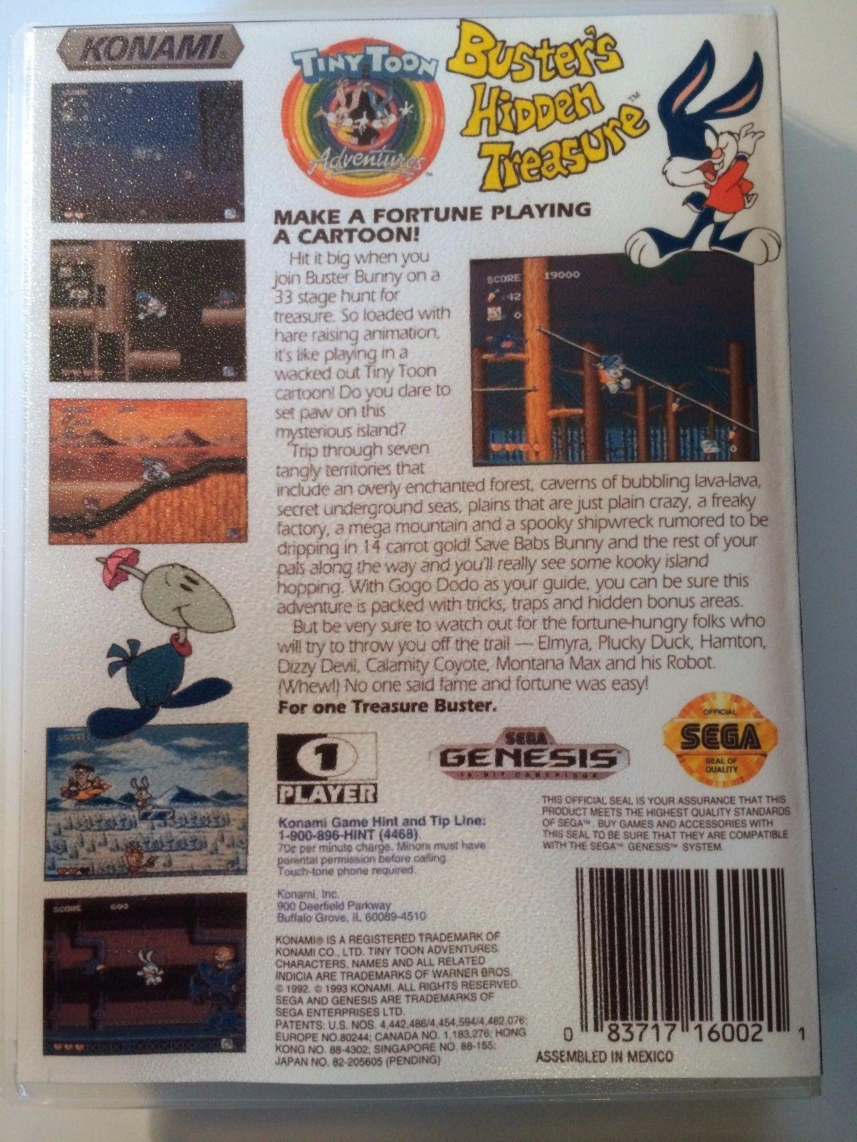 Tiny Toons Adventures Buster's Hidden Treasure - Genesis - Case - No Game