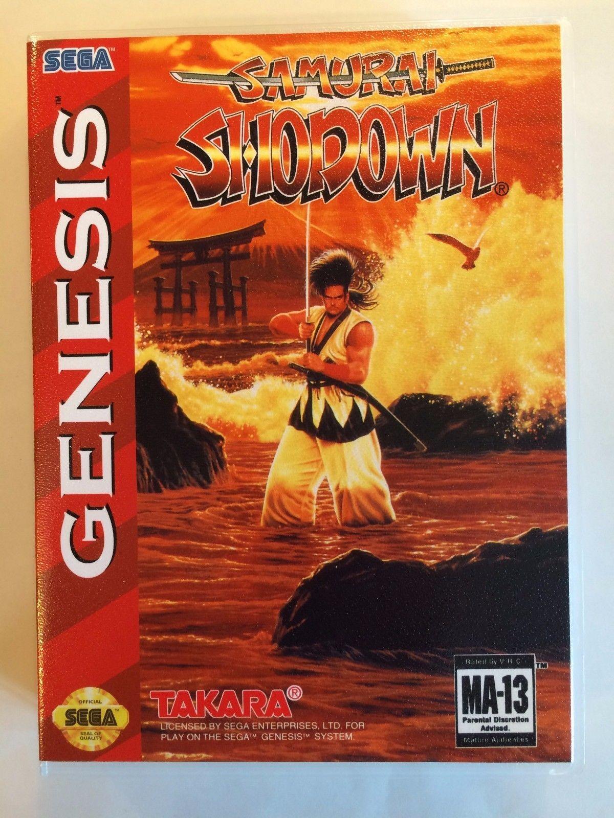 Samurai Shodown - Sega Genesis - Replacement Case - No Game