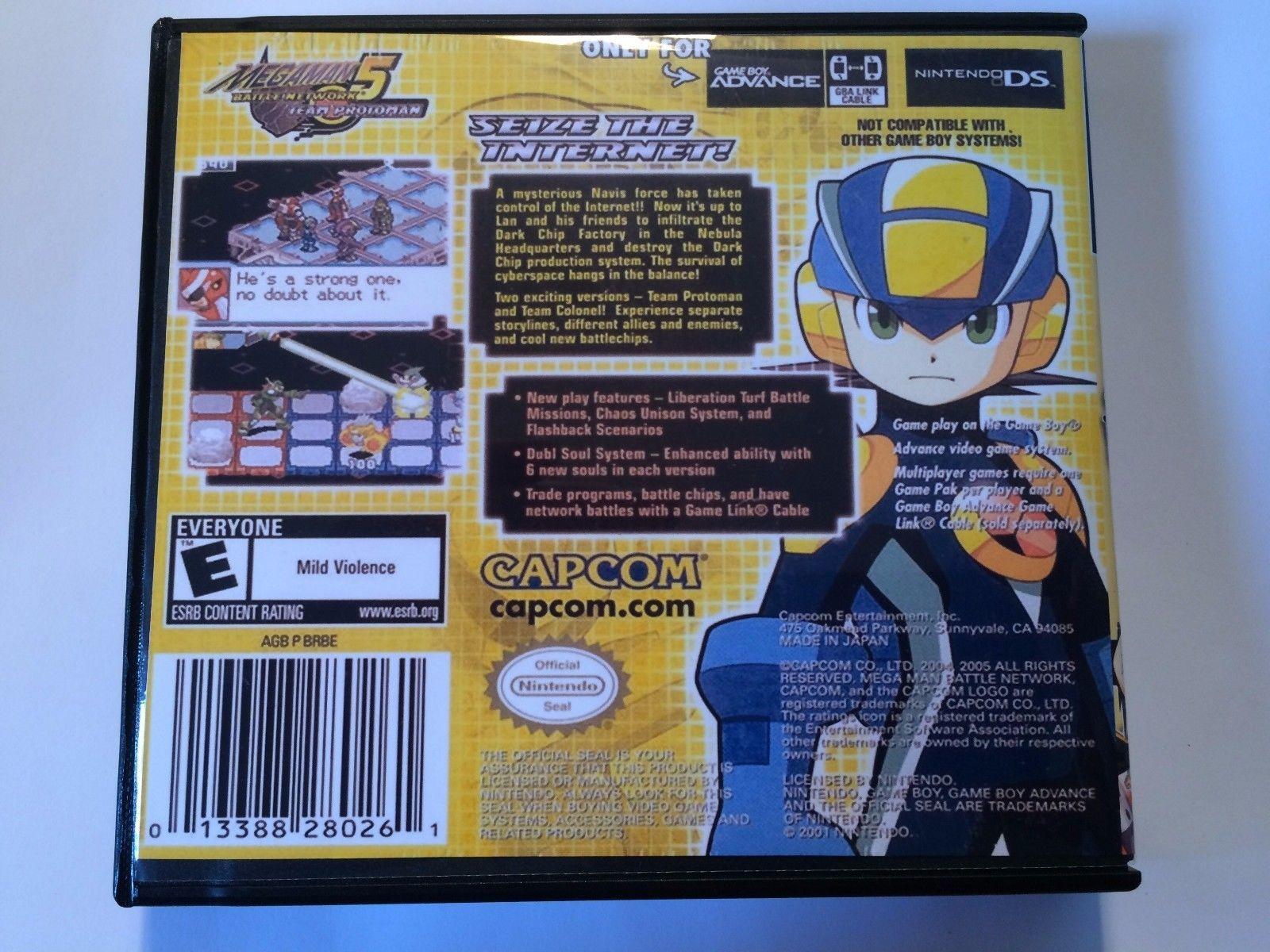 Megaman Battle Network 5 Team Protoman - GBA - Replacement Case - No Game
