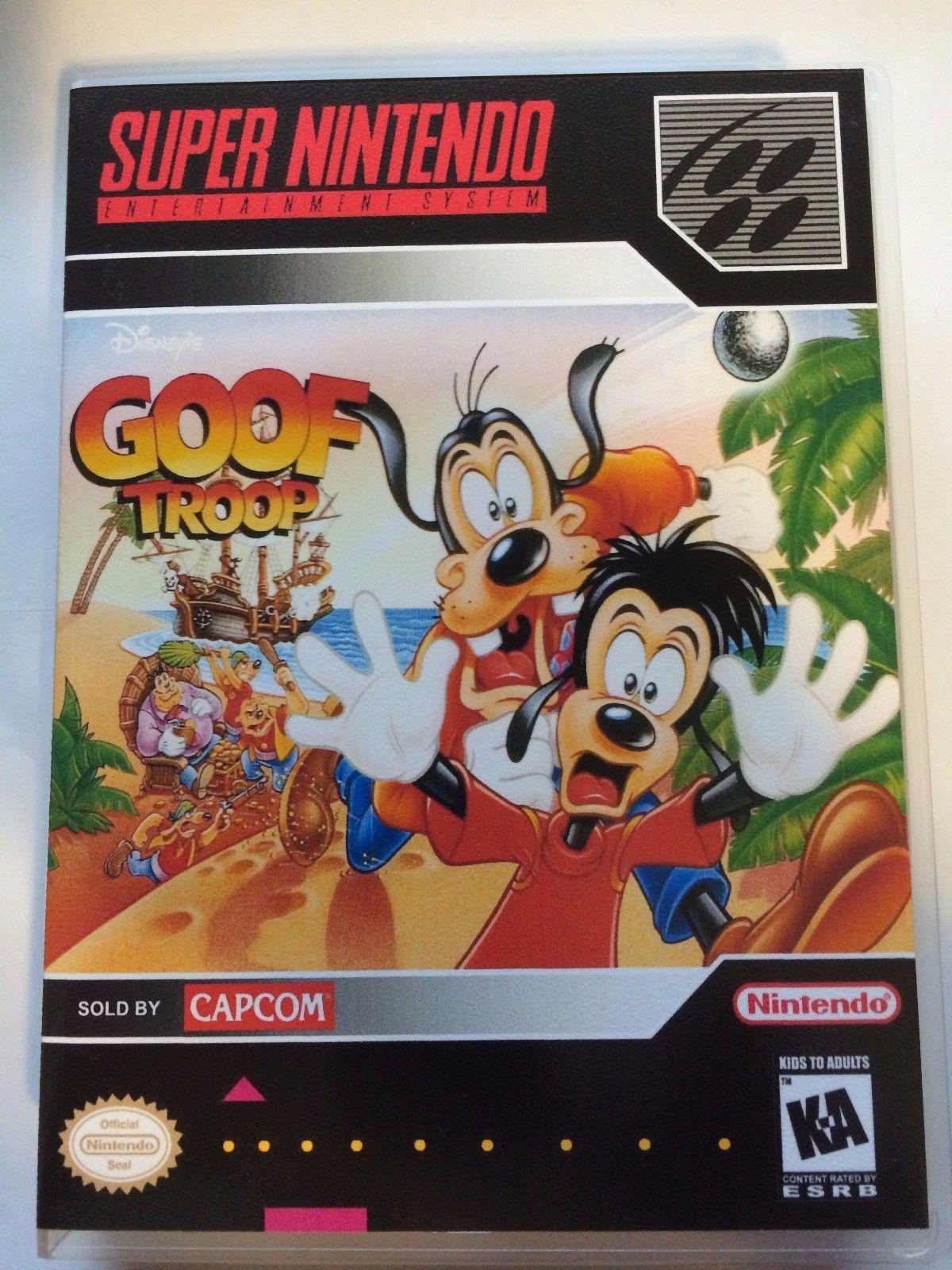 Goof Troop - Super Nintendo - Replacement Case - No Game