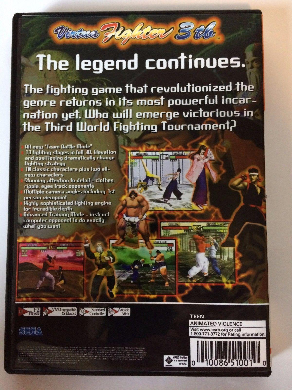 Virtua Fighter 3tb - Sega Dreamcast - Replacement Case - No Game