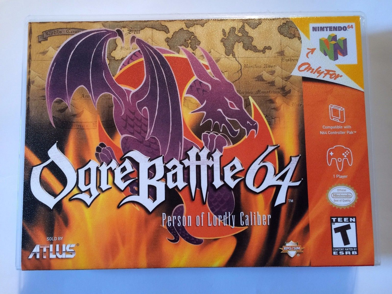 Ogre Battle - Nintendo 64 - Replacement Case - No Game