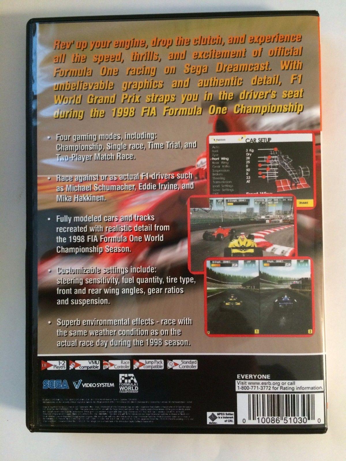 F1 World Grand Prix - Sega Dreamcast - Replacement Case - No Game