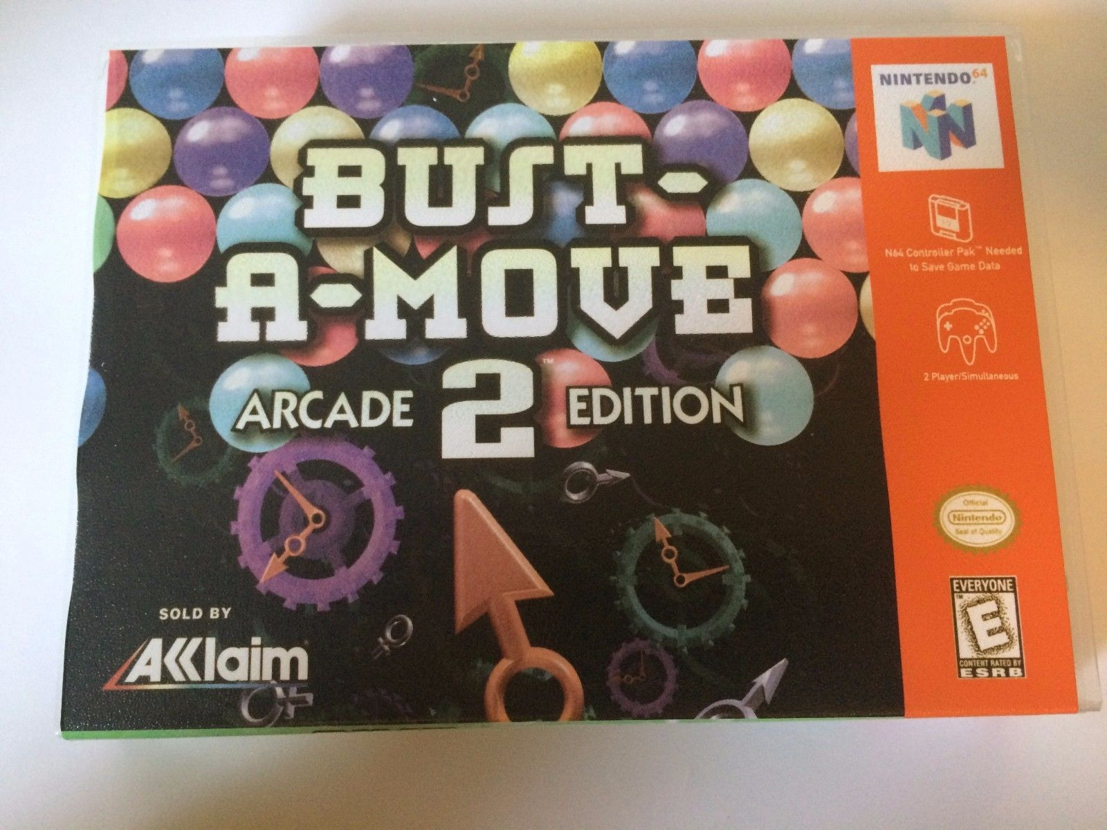 Bust a Move 2 - Nintendo 64 - Replacement Case - No Game