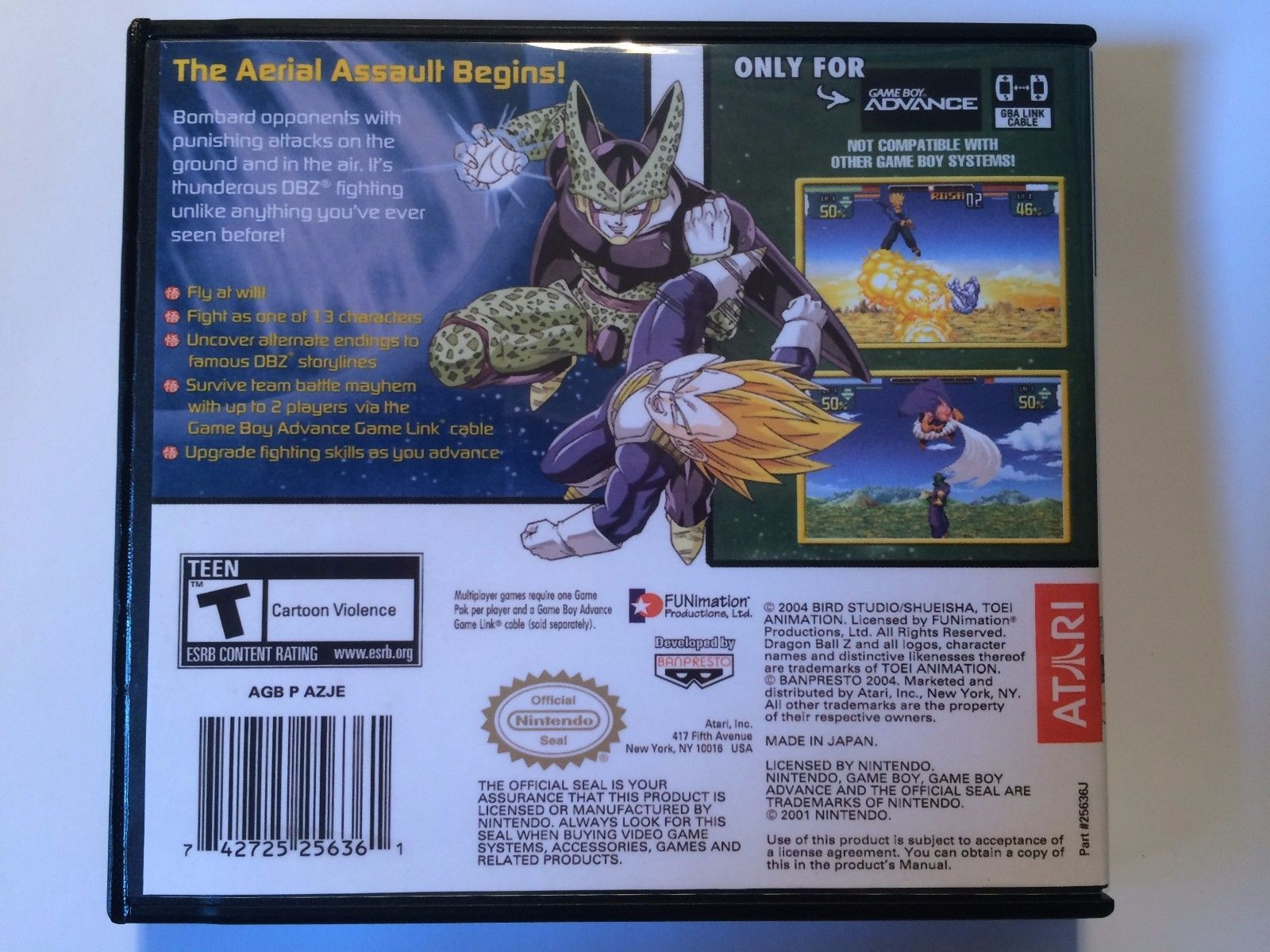 Dragon Ball Z Supersonic Warriors - GBA - Replacement Case - No Game