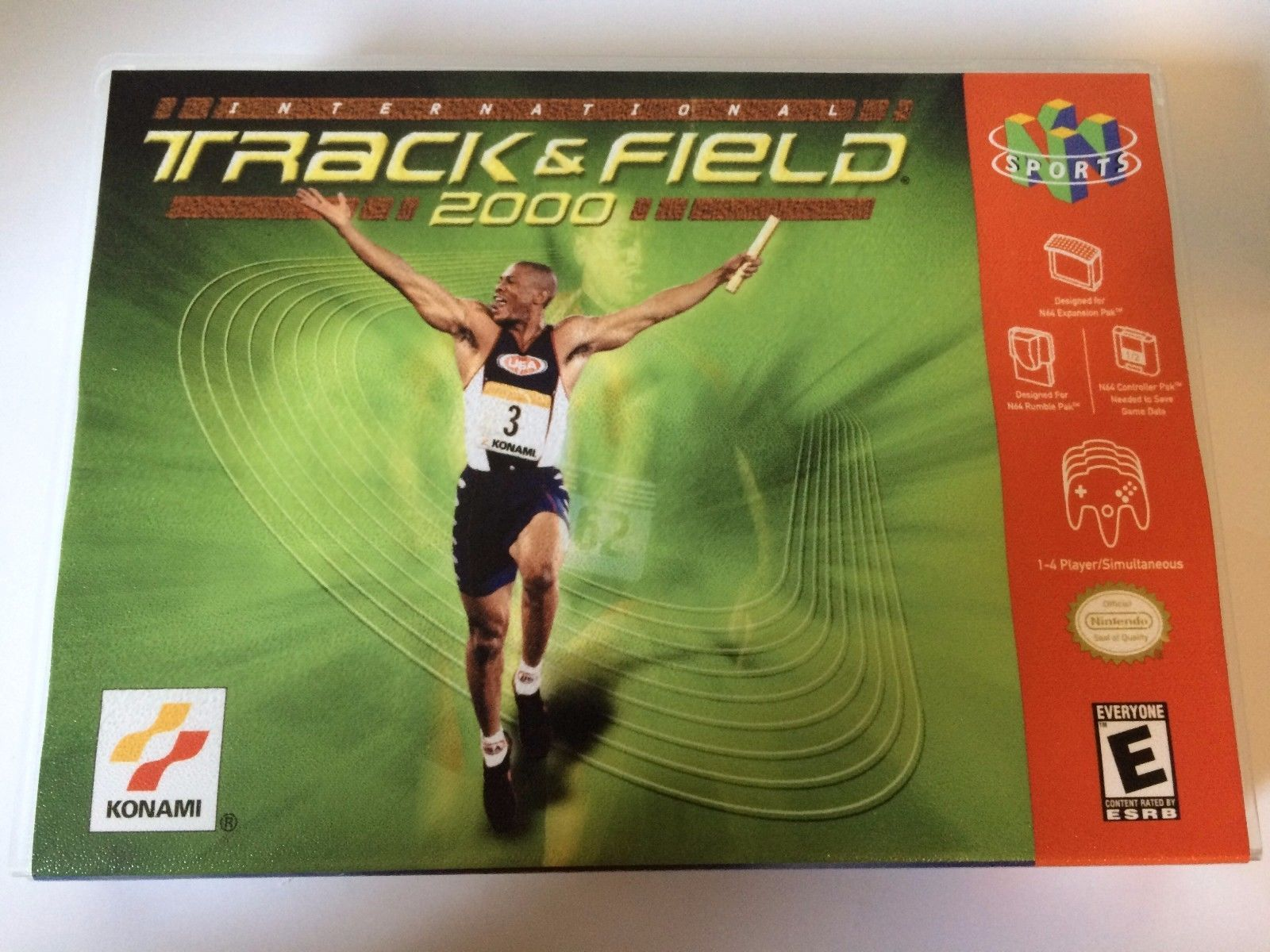 International Track and Field 2000 - Nintendo 64 - Replacement Case - No Game
