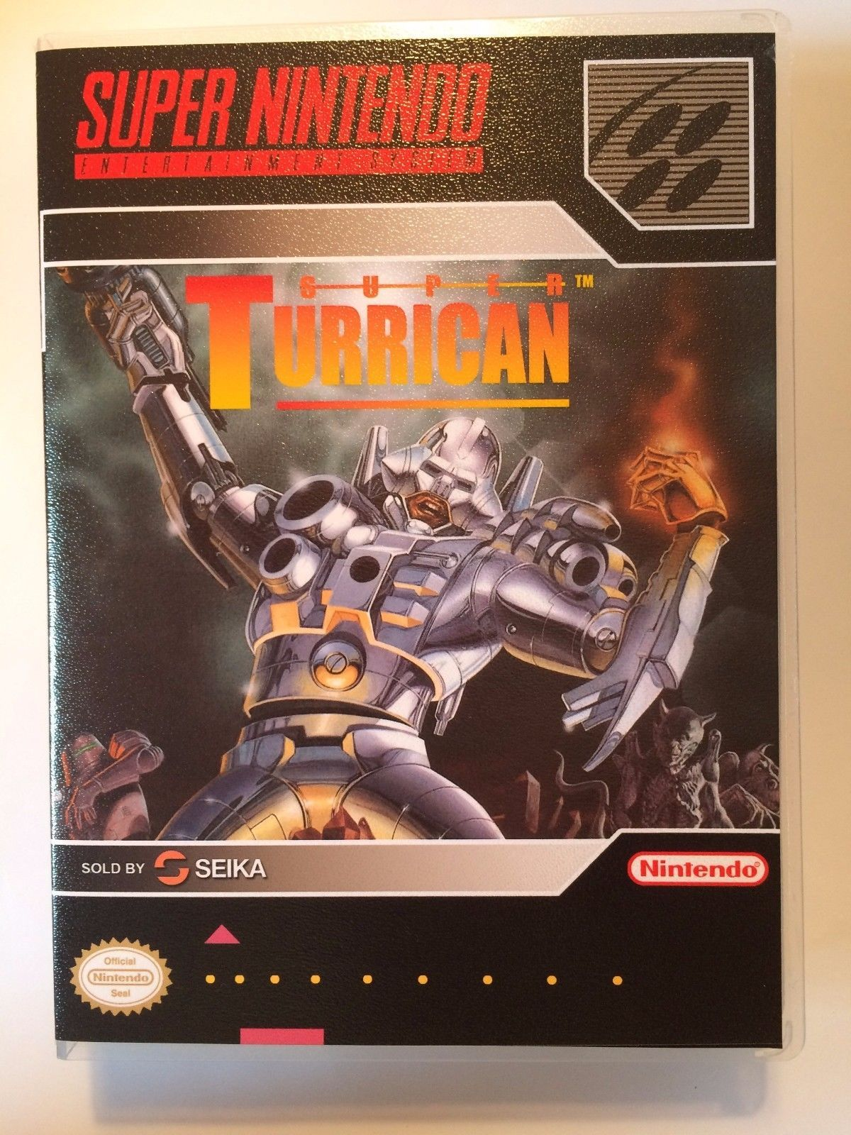 Super Turrican - Super Nintendo - Replacement Case - No Game
